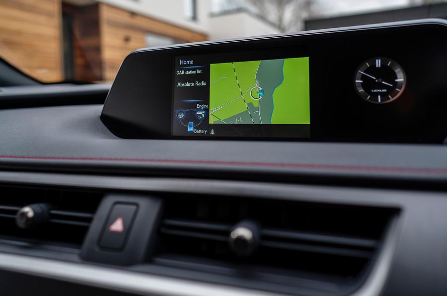 Lexus UX 2019 UK first drive review - infotainment