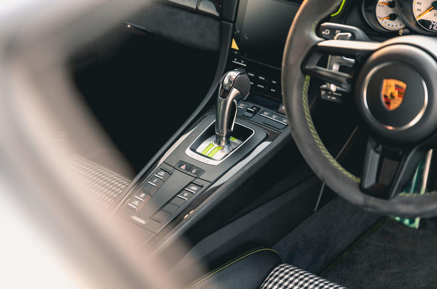 Manthey 911 GT3 RS MR 2020 first drive review - centre console