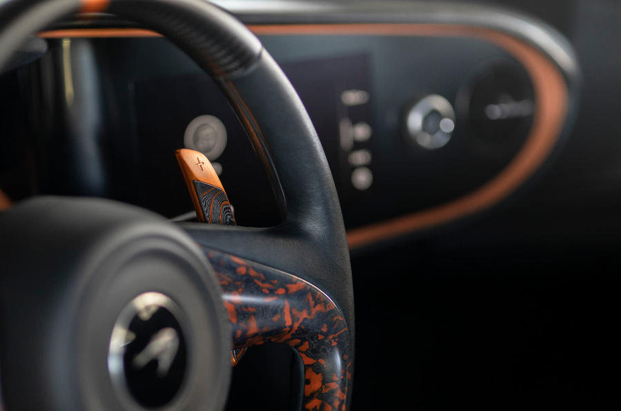 McLaren Speedtail 2020 UK first drive review - paddle shifters
