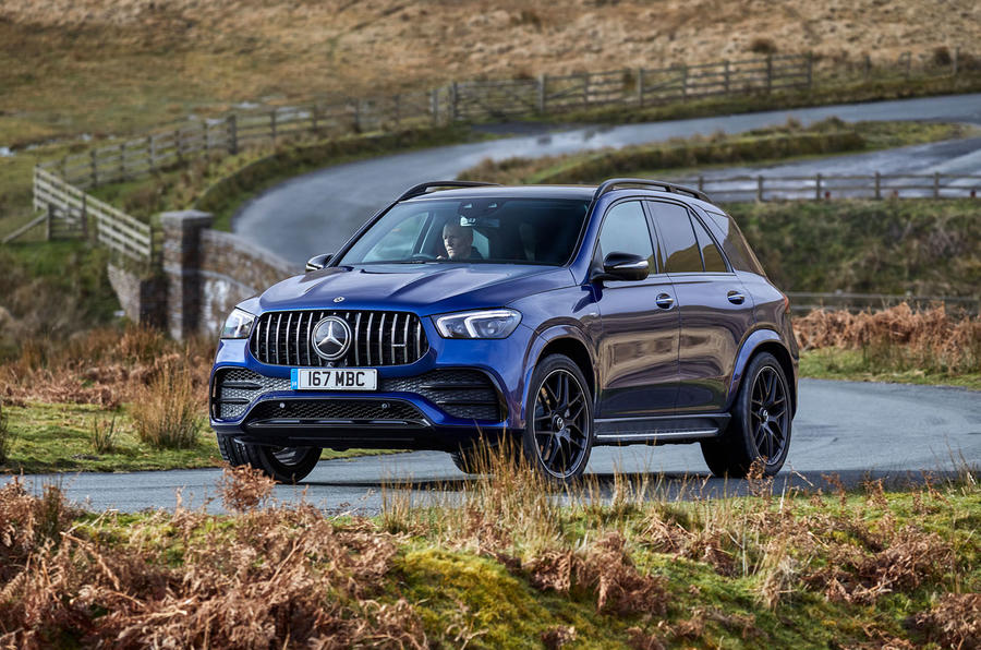 Mercedes-AMG GLE 53 2020 UK first drive review - cornering front