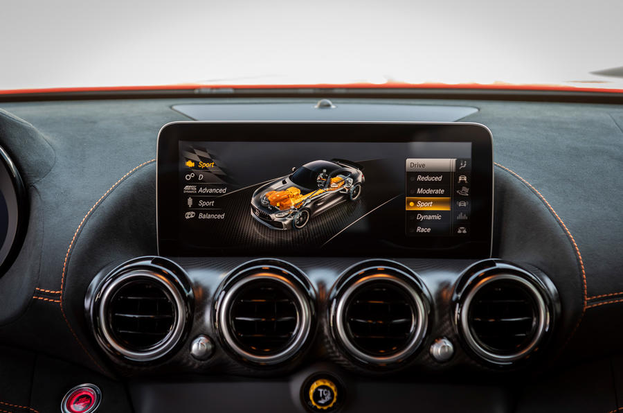 Mercedes-AMG GT Black Series 2020 first drive review - infotainment