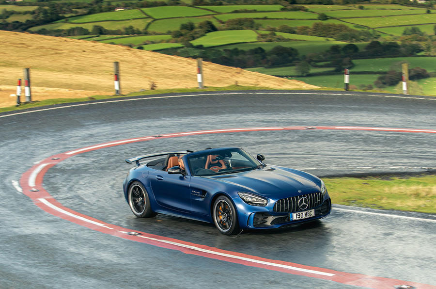 Mercedes-AMG GT R Roadster 2019 UK first drive review - on the road cornering