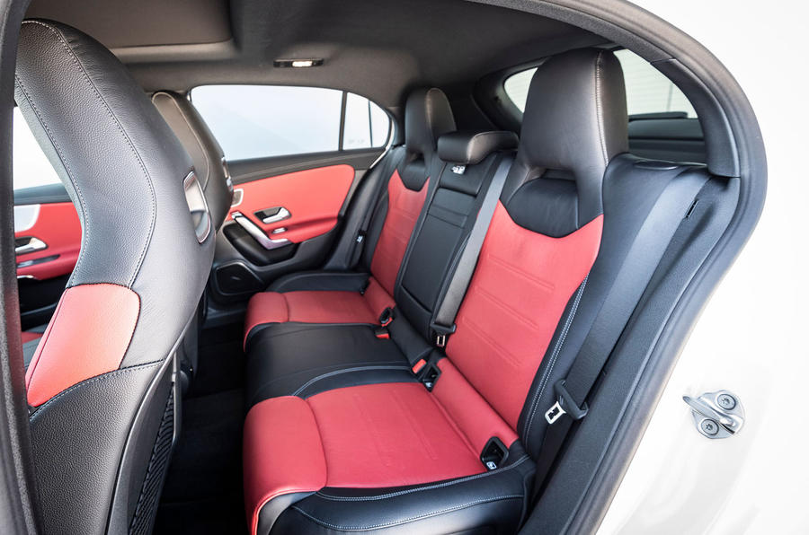 Mercedes-Benz A-Class A180D rear seats