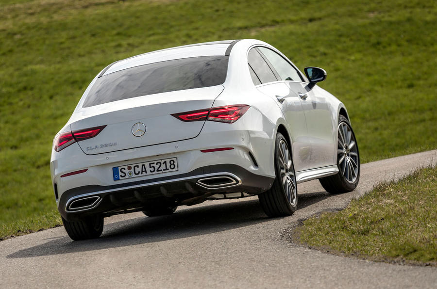 Mercedes-Benz CLA 2019 first drive review - on the road rear