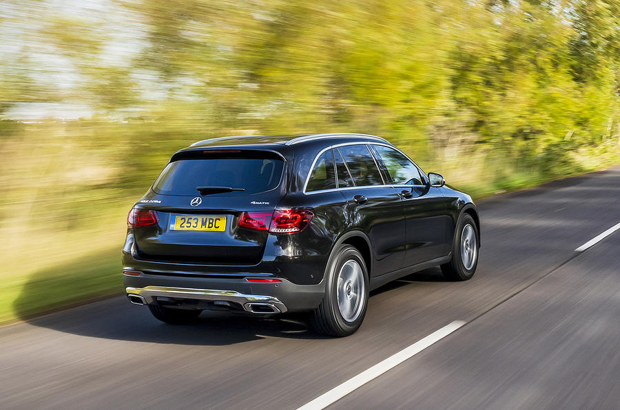 Mercedes-Benz GLC 220d 2019 UK first drive review - on the road rear