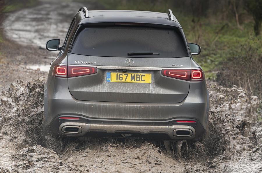 Mercedes-Benz GLS 400d 2019 UK first drive review - offroad rear