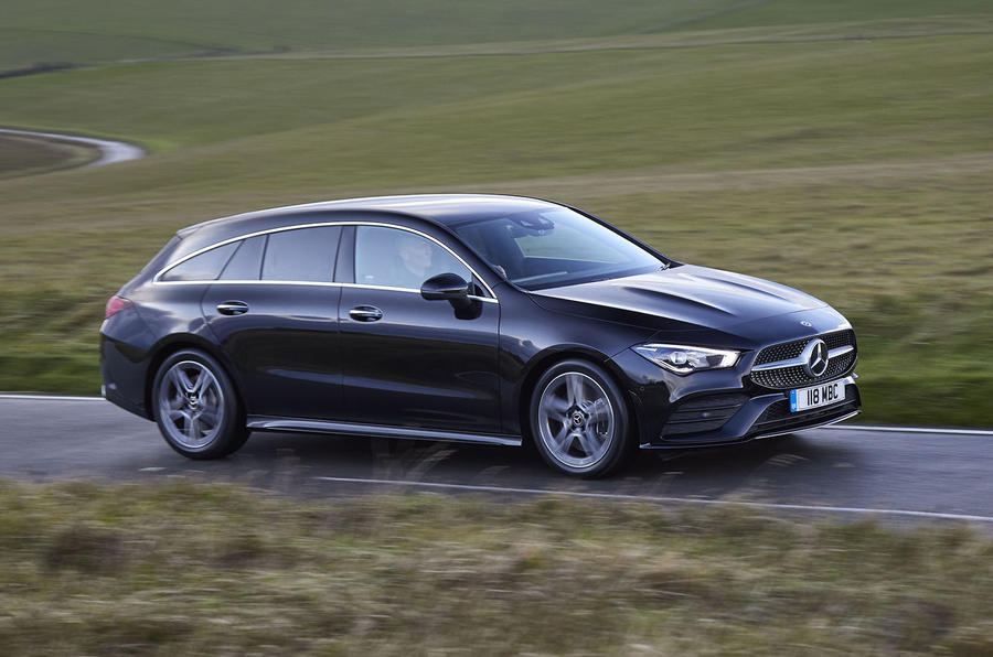 Mercedes-Benz CLA Shooting Brake 220d 2020 UK first drive review - on the road front