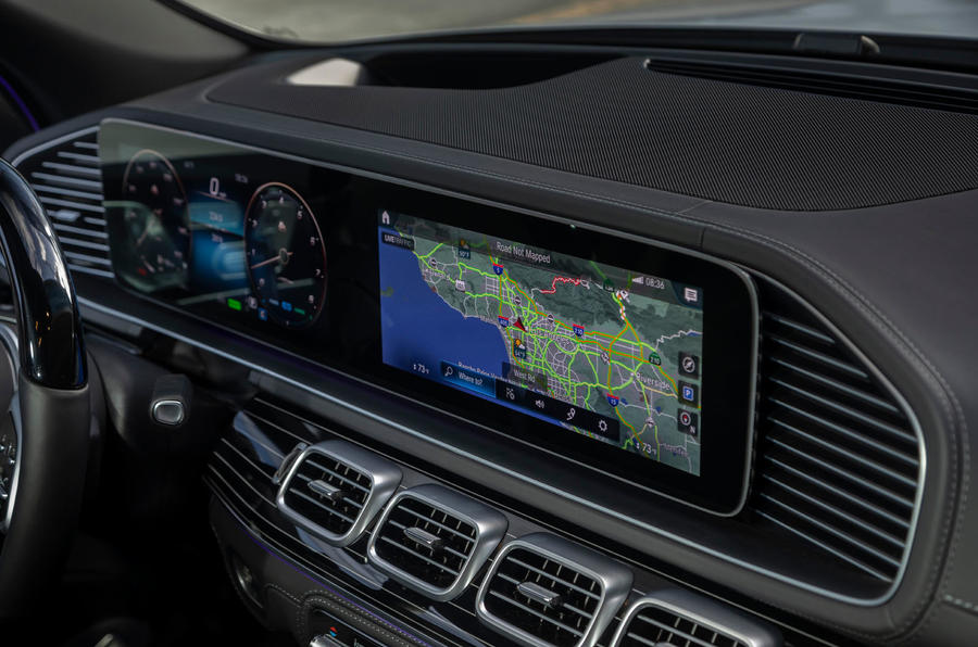 Mercedes-Maybach GLS 600 2020 first drive review - infotainment