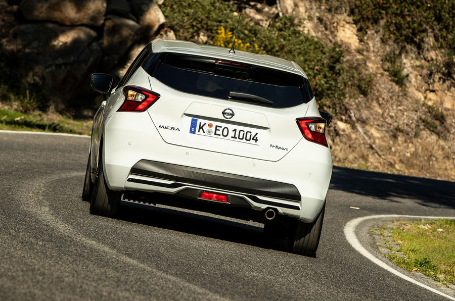Nissan Micra 2019 first drive review - cornering rear