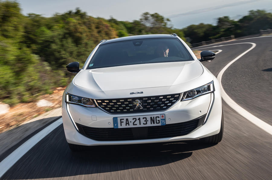 Peugeot 508 SW 2018 first drive review - on the road nose