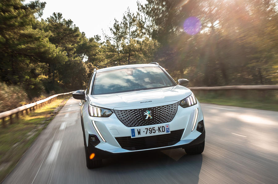 Peugeot e-2008 2020 first drive review - on the road nose