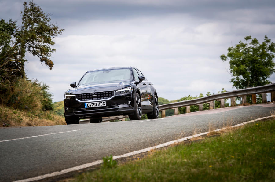 Polestar 2 2020 UK first drive review - on the road front