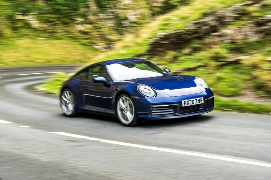 Porsche 911 Carrera S manual 2020 first drive review - on the road front