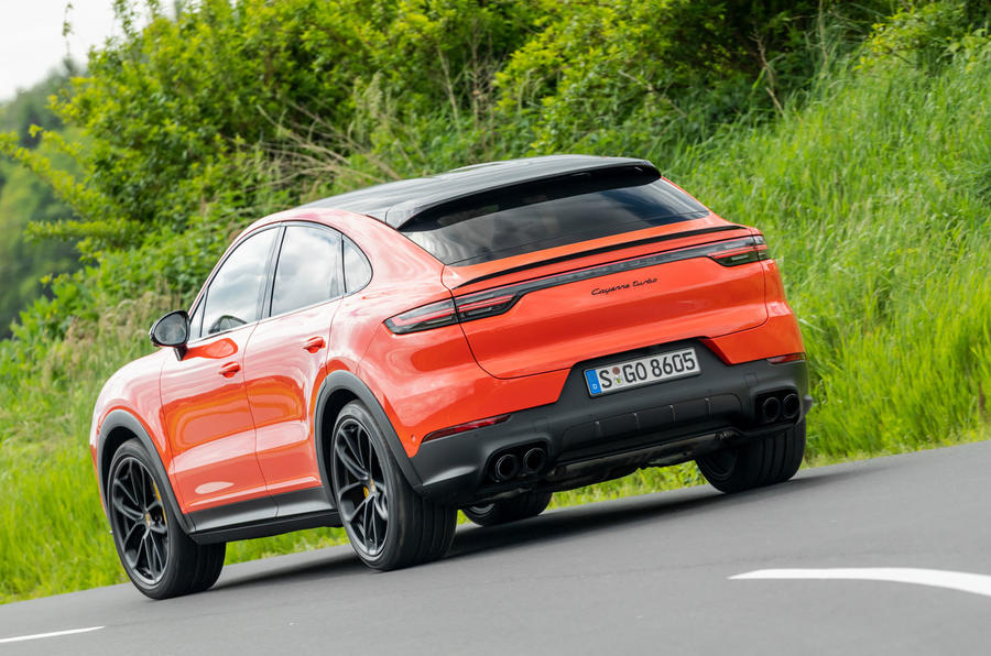 Porsche Cayenne Coupé 2019 first drive review - on the road rear