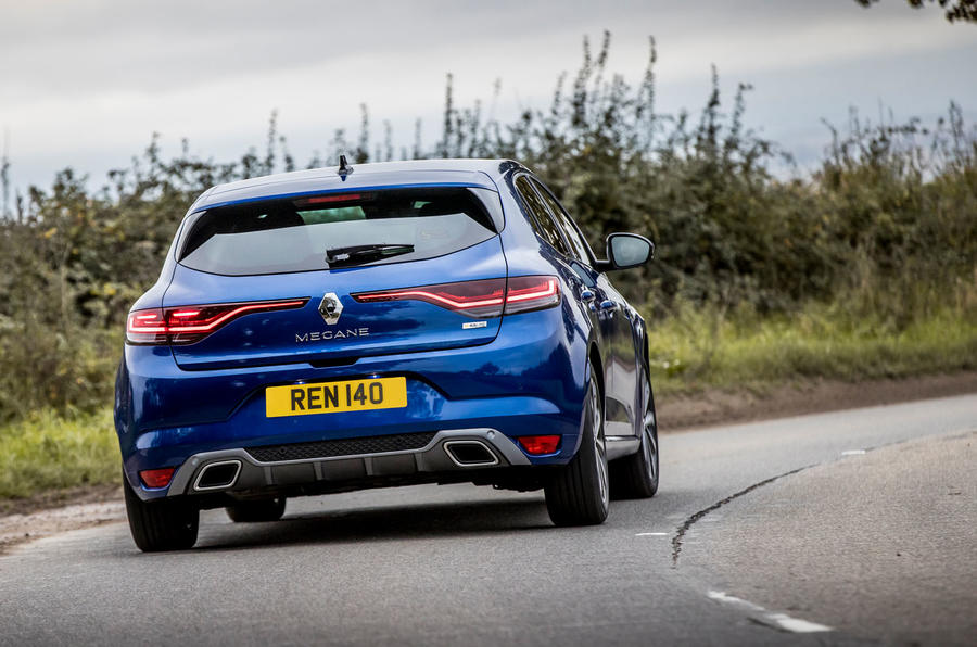 Renault Megane Sport 2020 UK first drive review - cornering rear