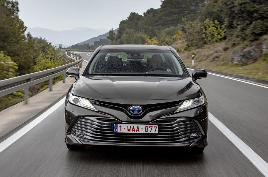 Toyota Camry 2019 European first drive review - on the road nose