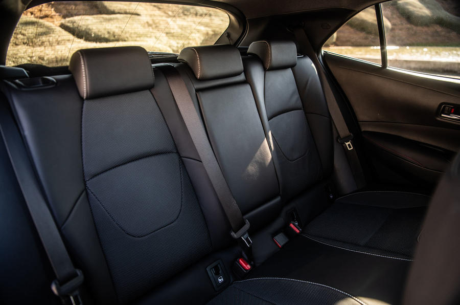 Toyota Corolla hybrid hatchback 2019 first drive review - rear seats