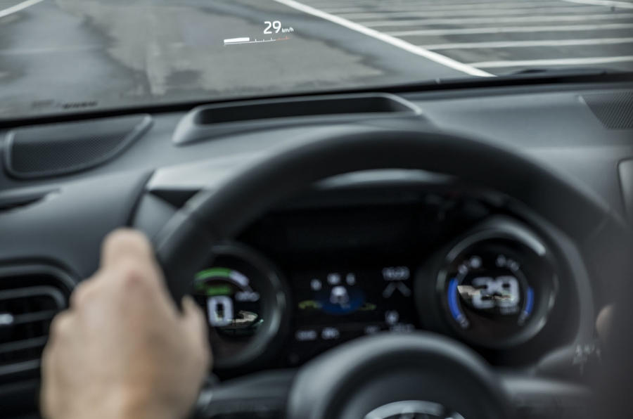 Toyota Yaris hybrid 2020 UK first drive review - heads-up display