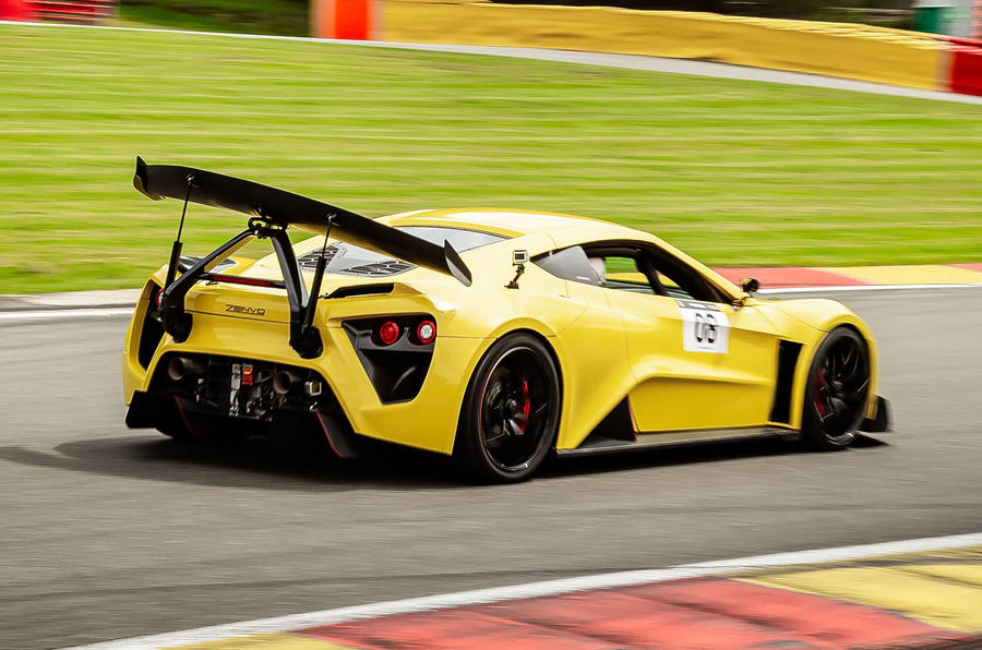Zenvo TSR-S 2019 first drive review - circuit rear
