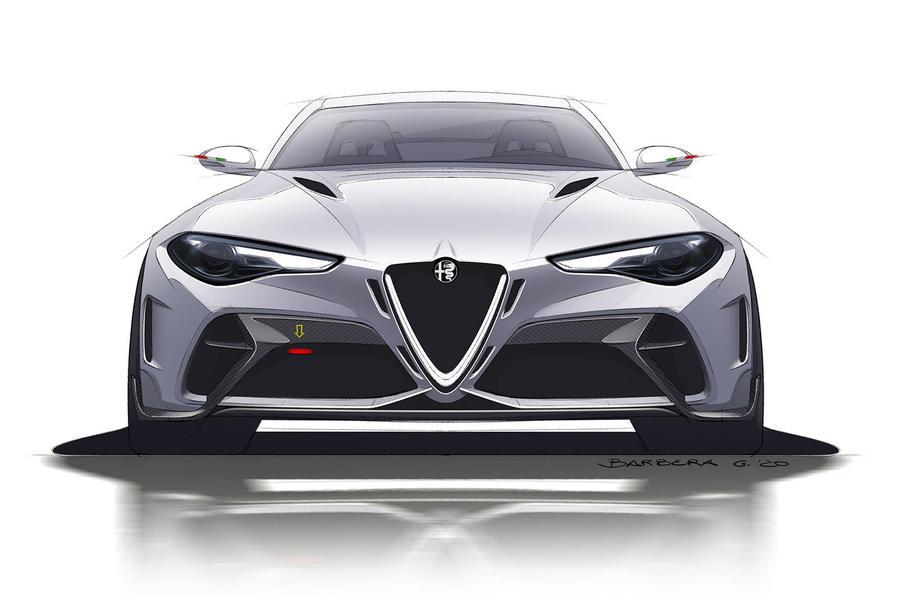 Alfa Romeo Giulia GTA render 2020 - stationary front