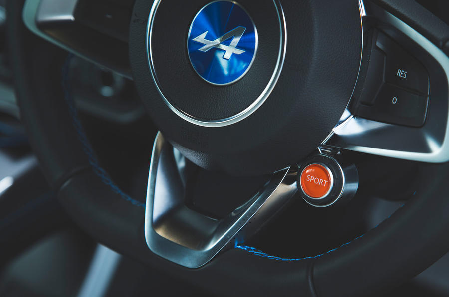 Alpine A110 Pure 2019 UK first drive review - sport button