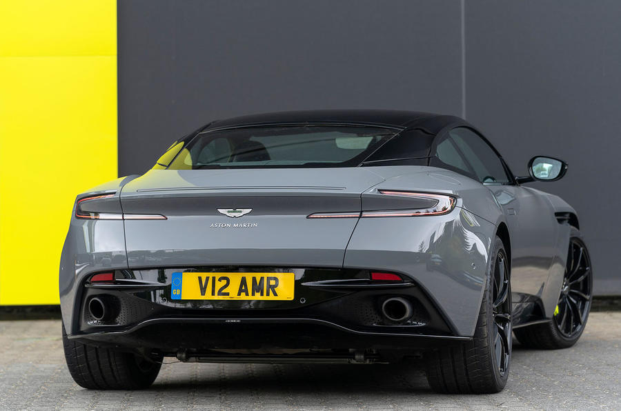 Aston Martin DB11 AMR 2018 review static rear