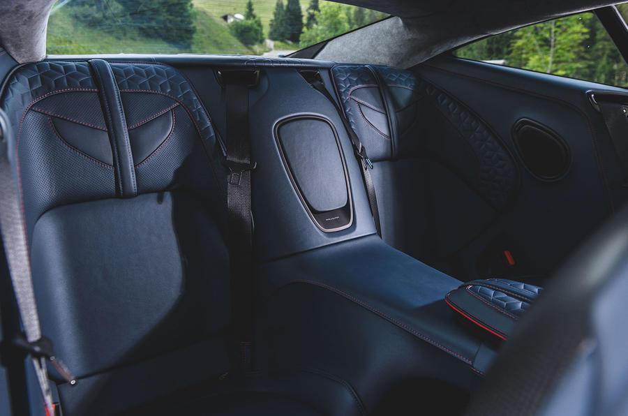 Aston Martin DBS Superleggera 2018 first drive review rear seats