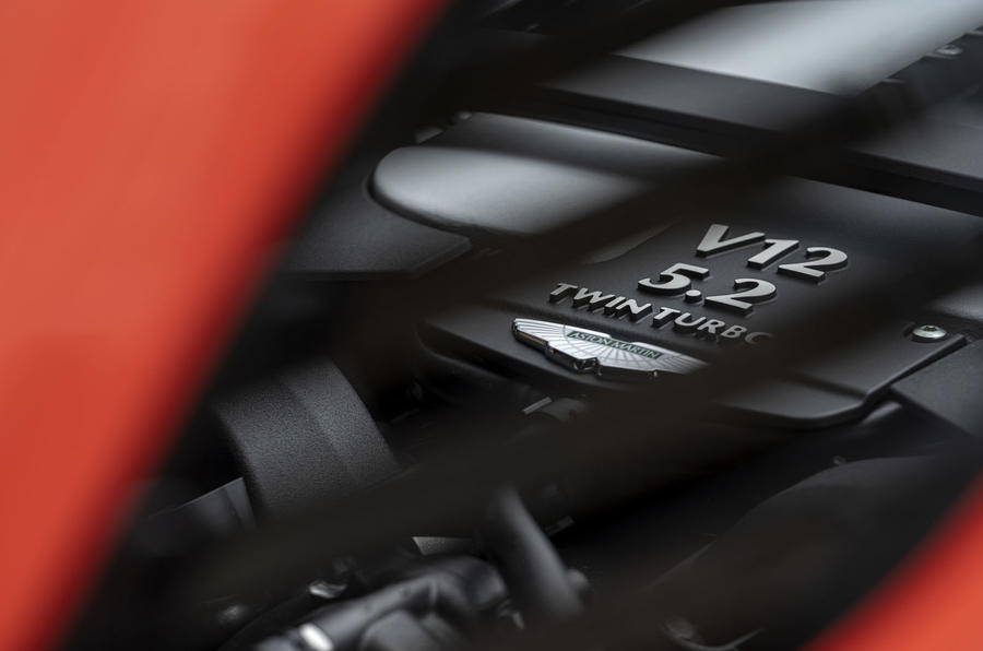 Aston Martin DBS Superleggera Volante 2019 first drive review - engine cover