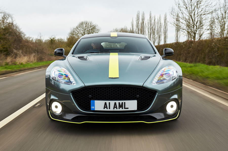 Aston Martin Rapide AMR 2019 UK first drive review - action