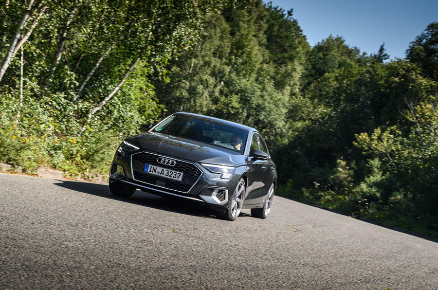 Audi A3 saloon 2020 UK first drive review - on the road front