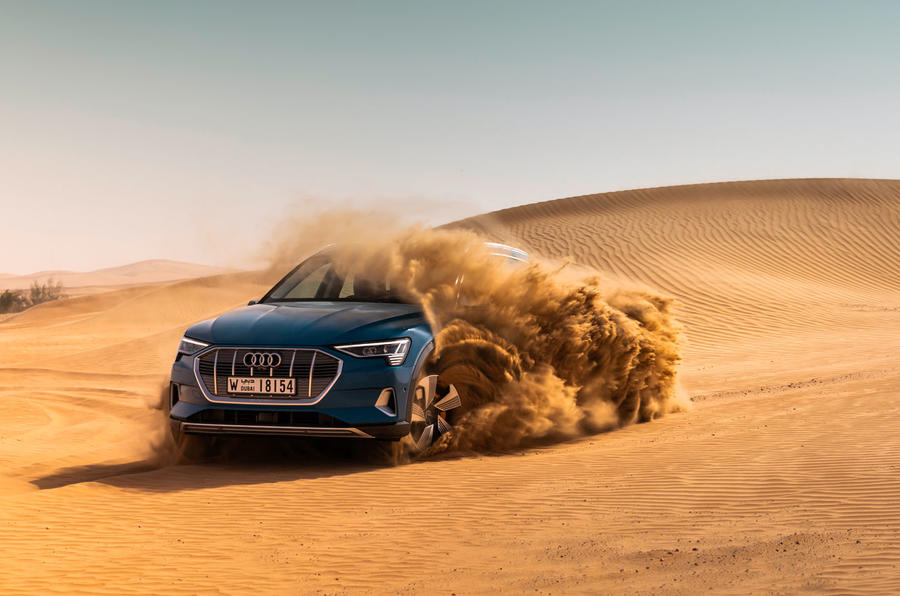 Audi E-tron quattro 2018 first drive review - desert