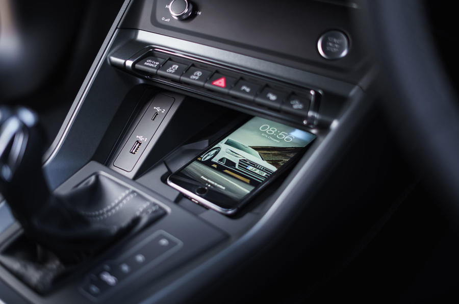 Audi Q3 Sportback 2019 UK first drive review - wireless charging