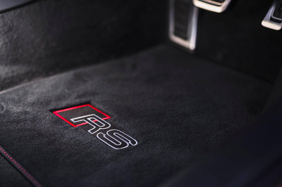Audi RS7 Sportback 2020 UK first drive review - floor mats
