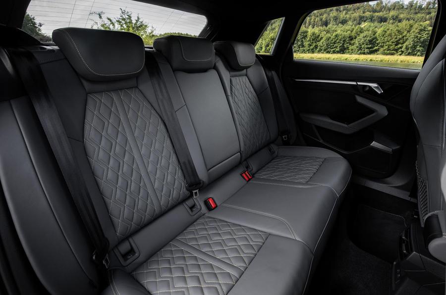 Audi S3 Sportback 2020 first drive review - rear seats