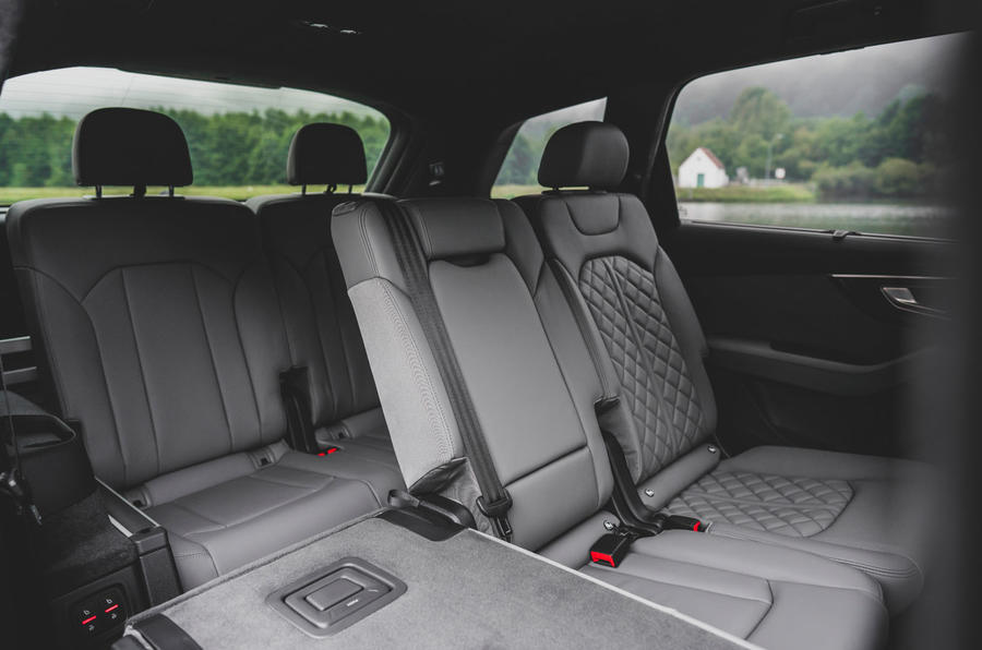 Audi SQ7 2020 first drive review - rear seats