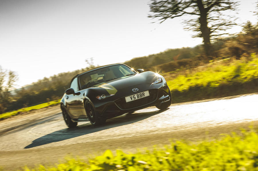 BBR GTI Mazda MX-5 Super 220 2020 UK first drive review - cornering front