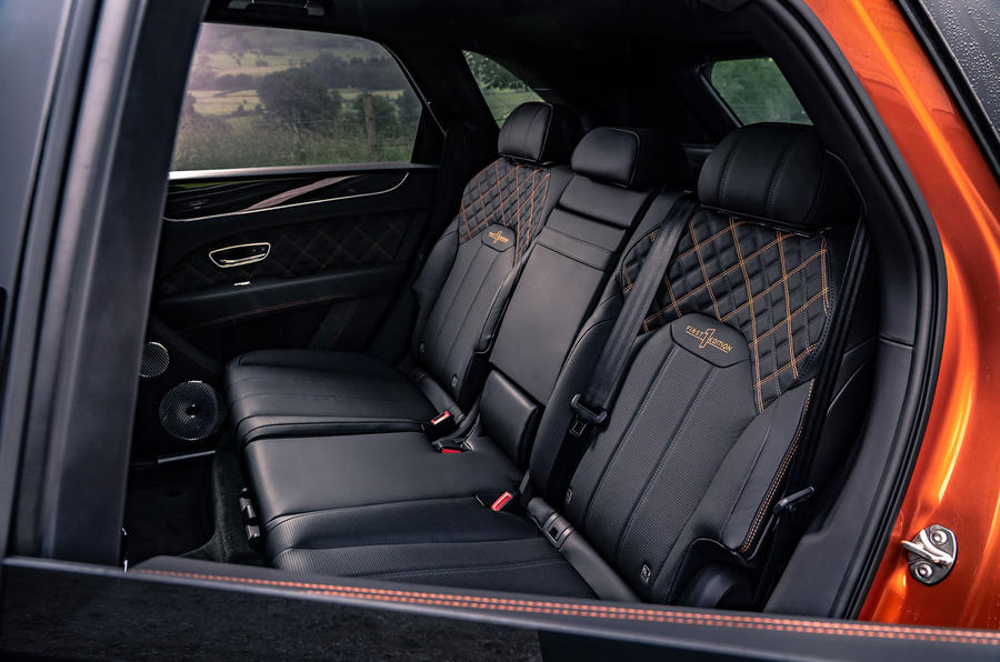 Bentley Bentayga 2020 UK first drive review - rear seats