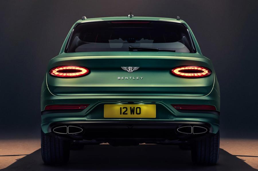 Bentley Bentayga facelift - static rear