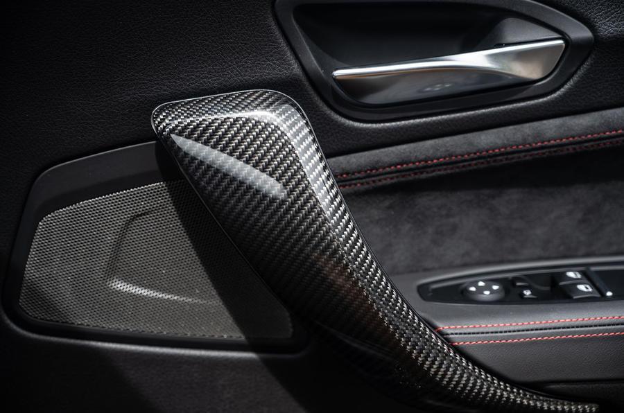 BMW M2 CS 2020 UK first drive review - door card