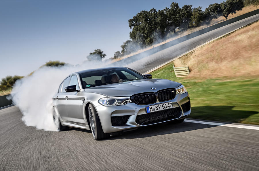 BMW M5 Competition 2018 first drive review drifting