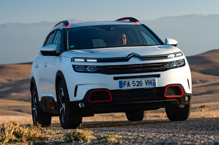 Citroen C5 Aircross 2018 first drive review - on the road nose