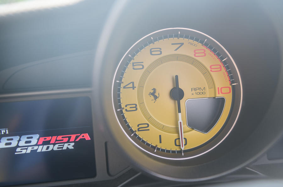 Ferrari 488 Pista Spider 2019 first drive review - rev counter
