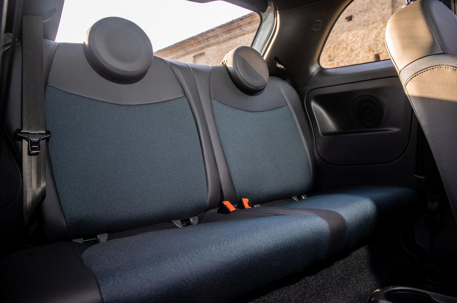 Fiat 500 Hybrid 2020 first drive review - rear seats