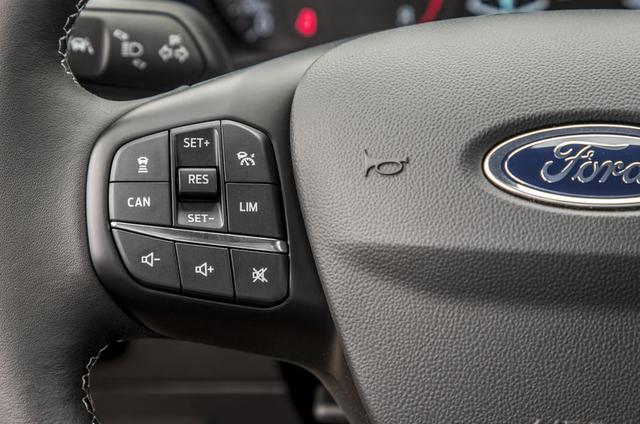 Ford Fiesta Active 2018 review cruise buttons