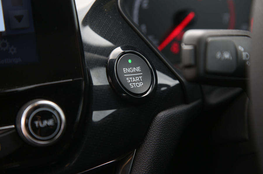 Ford Fiesta ST 2019 long-term review - start button