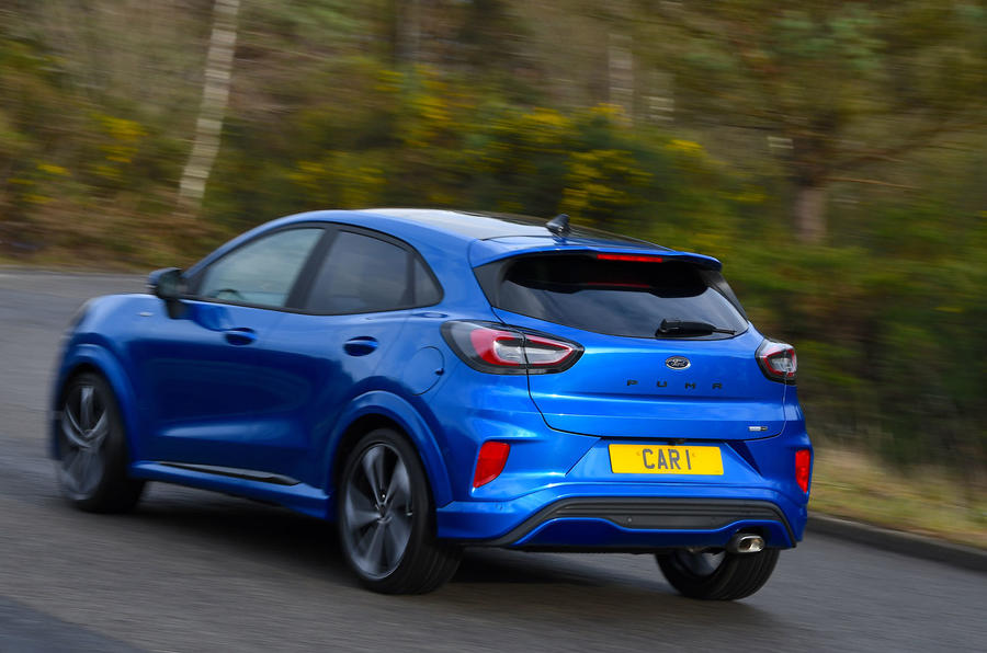 Ford Puma ST Line X 2020 UK first drive review - on the road rear