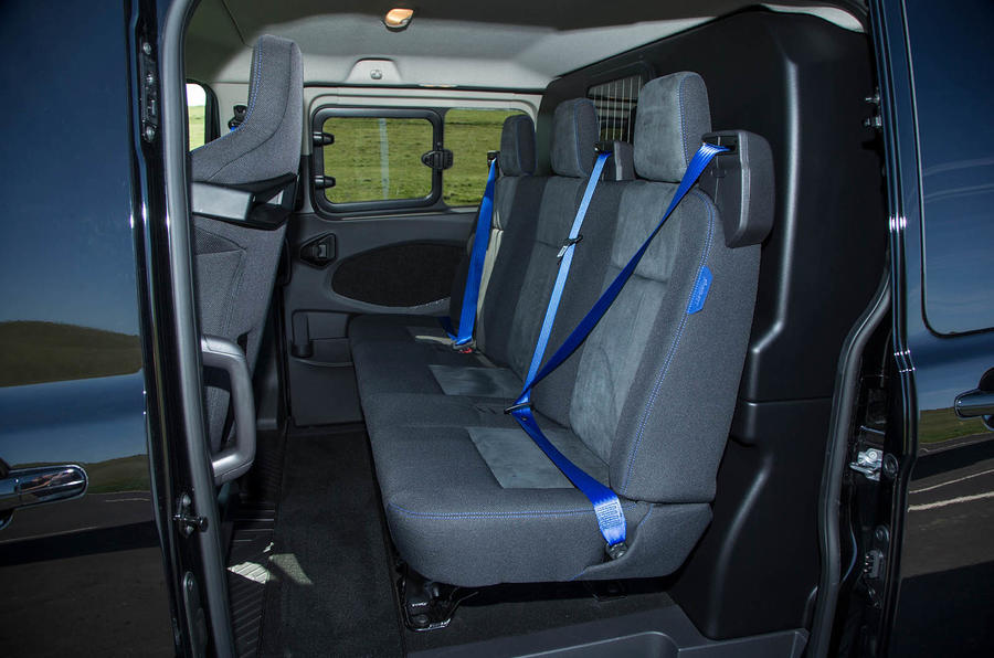 Ford Transit MS-RT custom review rear seats