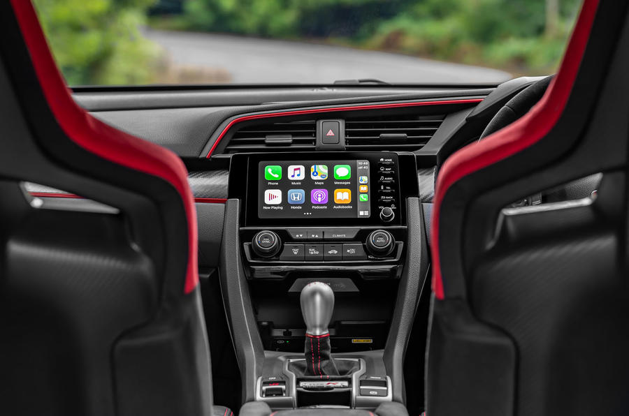 Honda Civic Type R 2020 UK first drive review - infotainment