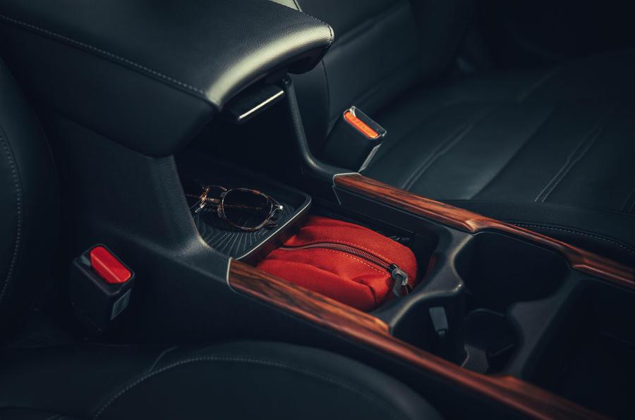 Honda CR-V hybrid 2019 first drive review - storage bins