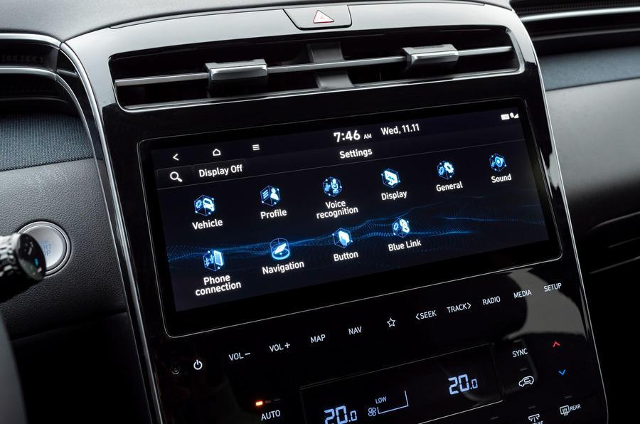 Hyundai Tucson 2020 UK first drive review - infotainment